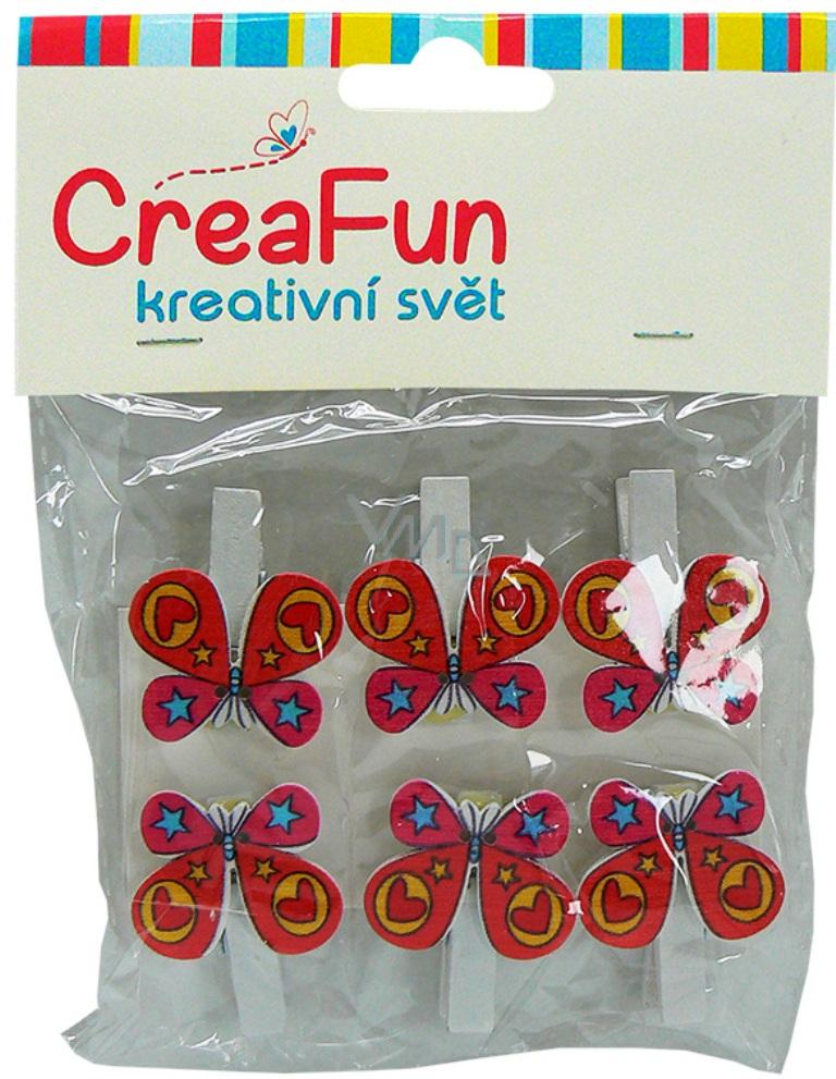 CreaFun Motýl kolíček 6 kusů