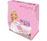 Regina Princezna sprchový gel pro děti 250 ml + pomáda na rty 2,3 g + svačinový box, kosmetická sada