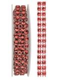 Řetěz červený, dekorační 1 x 75 cm