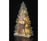 Emos Dekorace les a srnka na postavení 33 x 22 cm - 10 LED teplá bílá