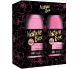 Nature Box Almond sprchový gel 385 ml + tělové mléko 385 ml, kosmetická sada