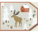 Nekupto Vánoční kartičky na dárky sob 5,5 x 7,5 cm 6 kusů