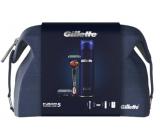 Gillette Fusion5 ProGlide holící strojek + náhradní hlavice 2 kusy + gel na holení 200 ml + etue, kosmetická sada