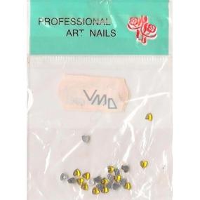 Professional Art Nails ozdoby na nehty kamínky srdíčka zlaté 1 balení