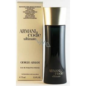 Giorgio Armani Code Ultimate Intense toaletní voda pro muže 75 ml Tester