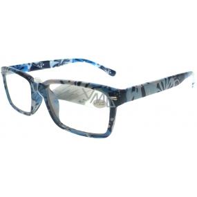 Berkeley Čtecí dioptrické brýle +1,0 tmavě modré květované 1 kus MC2096