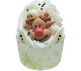 Bomb Cosmetics Vánoční sob - The Leader of the Pack Bath Mallow Máslový špalíček do koupele 50 g