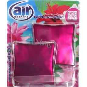 Air Menline Deo Picture Non Stop Elegant Tahiti Paradise gelový osvěžovač vzduchu náhradní náplň 2 x 8 g