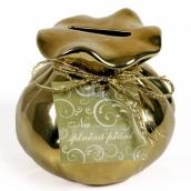 Albi Keramická kasička Zlatý měšec 7,5 x 8,5 cm