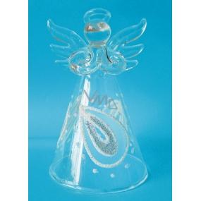 Anděl skleněný na postavení 8 cm