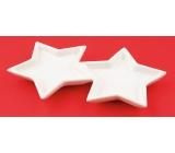Keramické hvězdy k dekoraci 17 cm