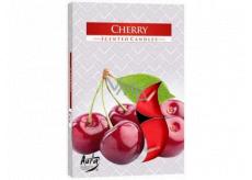 Bispol Aura Cherry s vůní třešně vonné čajové svíčky 6 kusů