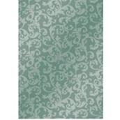 Ditipo Vánoční balicí papír šedozelený krajkový vzor 100 x 70 cm 2061002 2 kusy
