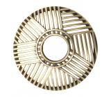 Yankee Candle Crosshatch Brass, Illuma Lid mosazný ozdobný prstenec na střední a velké vonné svíčky Classic