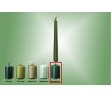 Lima Svíčka hladká metal zelená matná kužel 22 x 250 mm