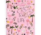 Nekupto Dárková papírová taška 14 x 11 x 6,5 cm Love The Life 1734 30 KFS