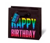 BSB Luxusní dárková papírová taška 14,5 x 15 x 6 cm Happy Birthday LDT 397 - CD