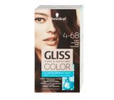 Schwarzkopf Gliss Color barva na vlasy 4-68 Tmavý mahagon 2 x 60 ml