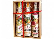 Kitl Syrob Bio Grapefruit s dužinou sirup 500 ml + Citron s dužinou sirup 500 ml + Pomeranč s dužinou sirup 500 ml, dárkové balení