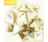 Nekupto Hvězdice střední luxus béžová sněhulák, hvězdy, stromky 6,5 cm HV 217 01
