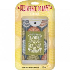 Albi Dezinfekce do kapsy s vůní citronu Maminka 15 ml