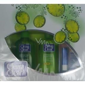 Clean & Clear mycí emulze 200 ml + pleťová voda 200 ml + balzám na rty 4,9 g, kosmetická sada