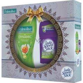 Palmolive Dynamická příroda Aroma Sensations So Dynamic sprchový gel 250 ml + Lady Speed Stick Natural & Protect deodorant stick 45 g, kosmetická sada