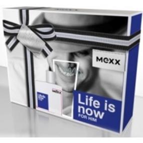 Mexx Life Is Now for Him toaletní voda 30 ml + sprchový gel 50 ml, dárková sada