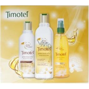 Timotei Precious Oils se vzácnými oleji šampon na vlasy 250 ml + kondicionér 200 ml + zkrášlující spray 150 ml, kosmetická sada 2015