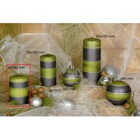 Lima Elegance Gray svíčka zelená válec 60 x 90 mm 1 kus