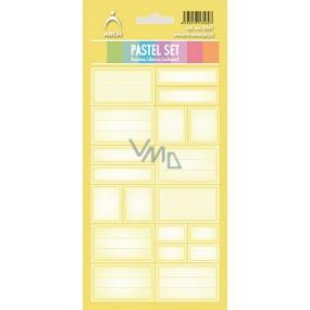 Arch Samolepky do domácnosti Pastelový set žlutý 3561 12 etiket