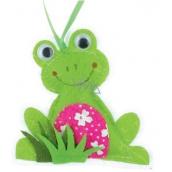 Ditipo Žába z látky na zavěšení 8 cm
