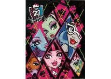 Ditipo Dárková papírová taška 18 x 10 x 22,7 cm Disney Monster Hight černo-růžová