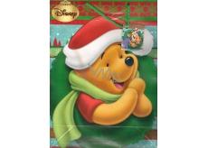 Ditipo Disney Dárková papírová taška pro děti L Medvídek Pú zelený věnec 26 x 13,5 x 32 cm