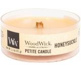 WoodWick Honeysuckle - Zimolez a jasmín vonná svíčka s dřevěným knotem petite 31 g