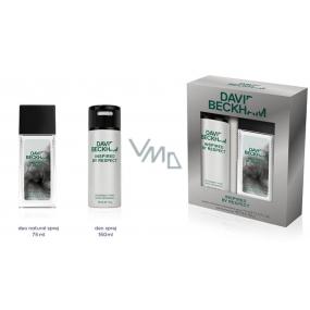 David Beckham Inspired by Respect parfémovaný deodorant sklo pro muže 75 ml + deodorant sprej 150 ml, kosmetická sada