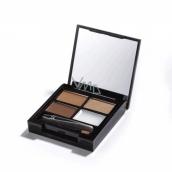 Makeup Revolution Focus & Fix Brow Kit sada na úpravu obočí Medium Dark 5,8 g