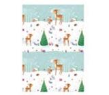 Ditipo Vánoční balicí papír pro děti srneček se stromečkem 100 x 70 cm 2 kusy