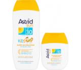 Astrid Sun Kids OF30 mléko na opalování 200 ml + Sun OF10 hydratační mléko na opalování 80 ml, duopack