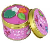 Bomb Cosmetics Tropický punč - Tropical Punch Vonná přírodní, ručně vyrobena svíčka v plechové dóze hoří až 35 hodin