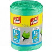Fino Color Sáčky do odpadkového koše s uchy zelený 35 litrů 49 x 60 cm 13 µ 100 kusů