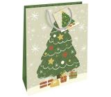 Nekupto Dárková papírová taška 32,5 x 26 x 13 cm Vánoční stromeček WBL 1956 50