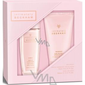 David Beckham Intimately Her parfémovaný deodorant sklo pro ženy 75 ml + tělové mléko 150 ml, kosmetická sada