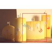 Lima Rozkvetlá louka svíčka žlutá elipsa 110 x 90 mm