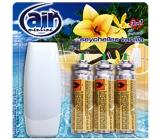 Air Menline Seychelles Vanilla Happy spray osvěžovač vzduchu komplet + náplně 3 x 15 ml