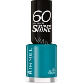 Rimmel London 60 Seconds Super Shine Nail Polish lak na nehty 863 Do Not Disturb 8 ml