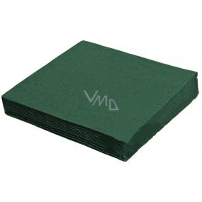 Gastro Papírové ubrousky barevné tmavě zelené 2 vrstvé 33 x 33 cm 50 kusů
