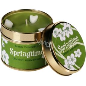 Bomb Cosmetics Jarní čas - Springtime Vonná přírodní, ručně vyrobena svíčka v plechové dóze hoří až 35 hodin