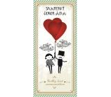 Bohemia Gifts & Cosmetics Mléčná čokoláda Svatba svatební, dárková 100 g