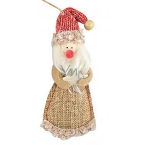Santa z juty na zavěšení 13 cm
